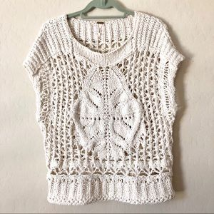 FREE PEOPLE boho chunky knit sweater top